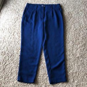 J. Crew Cobalt Ankle Pants